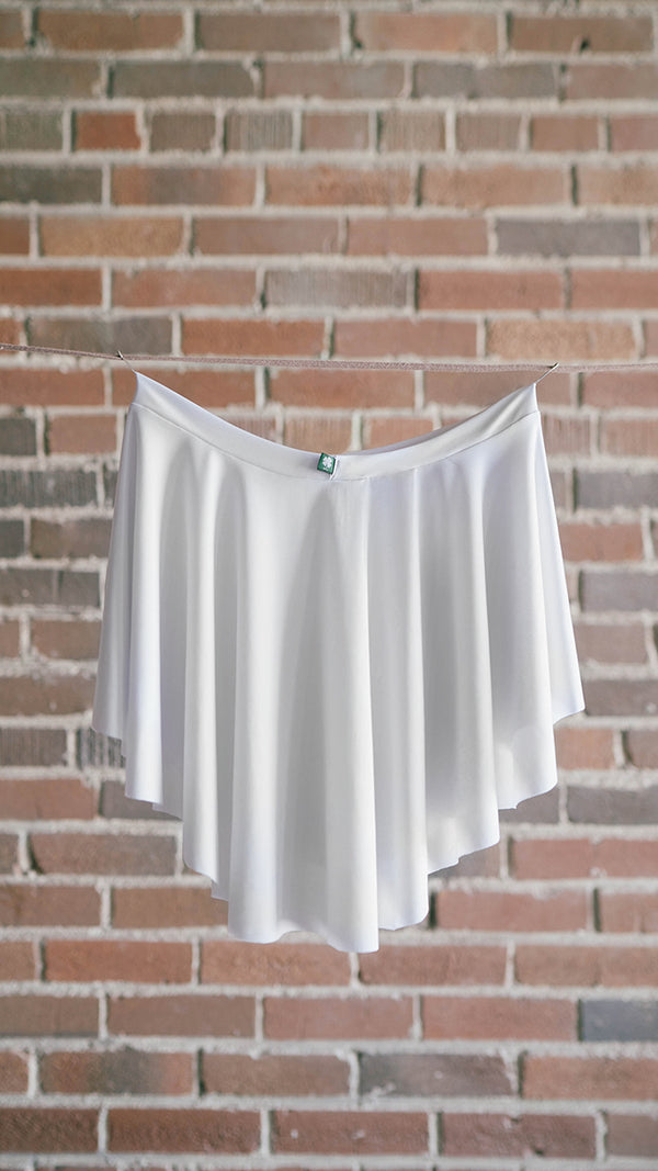 short white ballet skirt slinky luckyleo