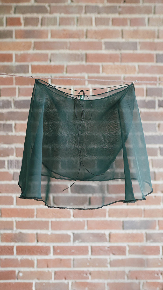 FLORA style short wrap skirt ballet Luckyleo dancewear emerald back