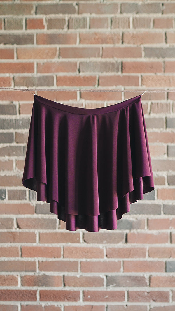 plum ballet skirt EOS SAB style from Luckyleo Dancewear