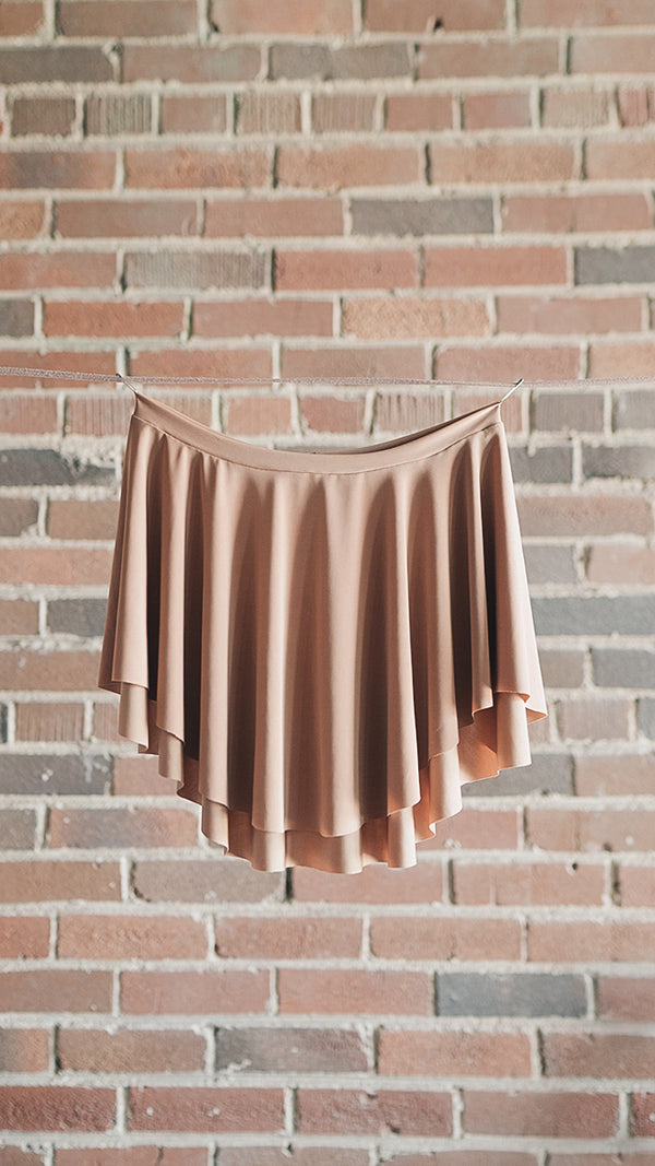 EOS style tan ballet skirt SAB front picture