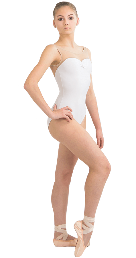 Ballet Leotard in Acorn Style Front View