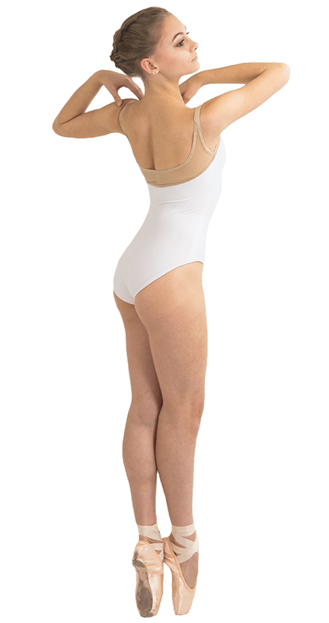 Ballet Leotard in Acorn Style Side View