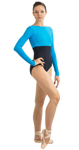 Ballet Leotard in Coin Style Front View