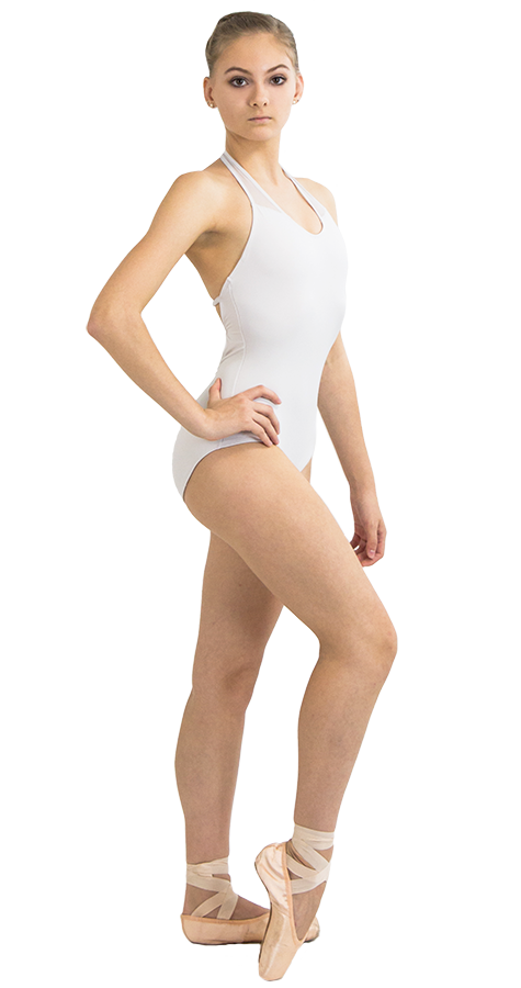Custom Ballet Leotard in Jackpot Style Front View