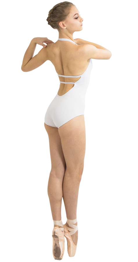 Custom Ballet Leotard in Jackpot Style Side View