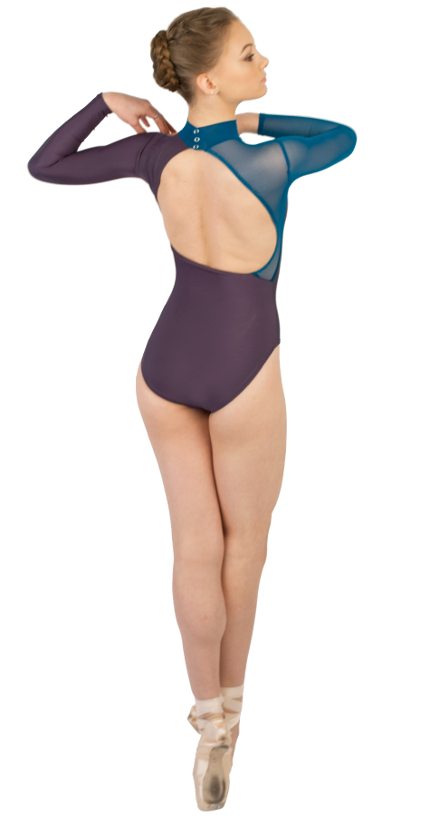 Custom Ballet Leotard in WINK Style Side View