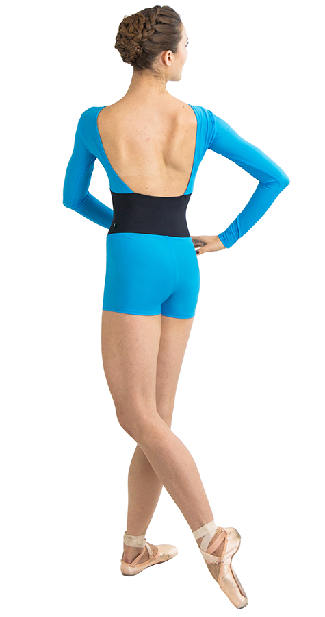 Mermaid Color Custom Ballet Shorts in Prima Style Back View
