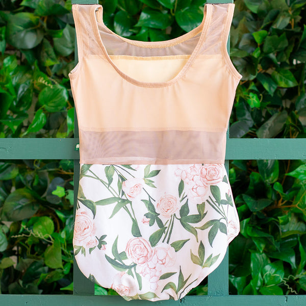 EXTRA EXTRA SMALL PINK PEONY & DUSTY ROSE MESH SPICE <br> READY TO SHIP