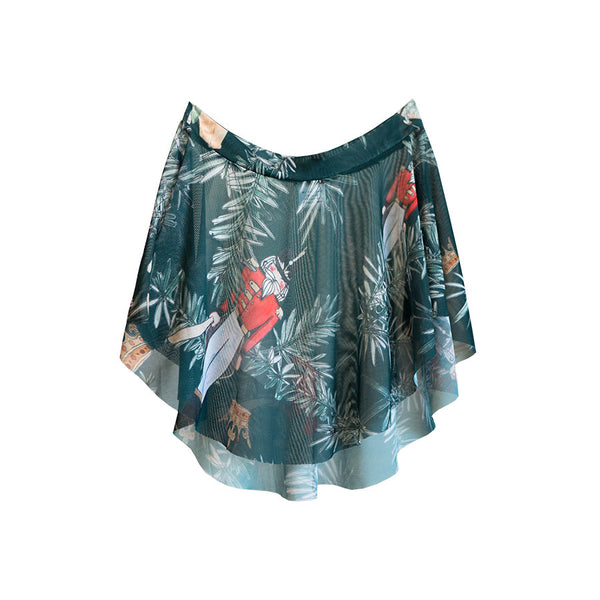 EMERALD BATTLE SCENE EOS <BR> NUTCRACKER COLLECTION SKIRT