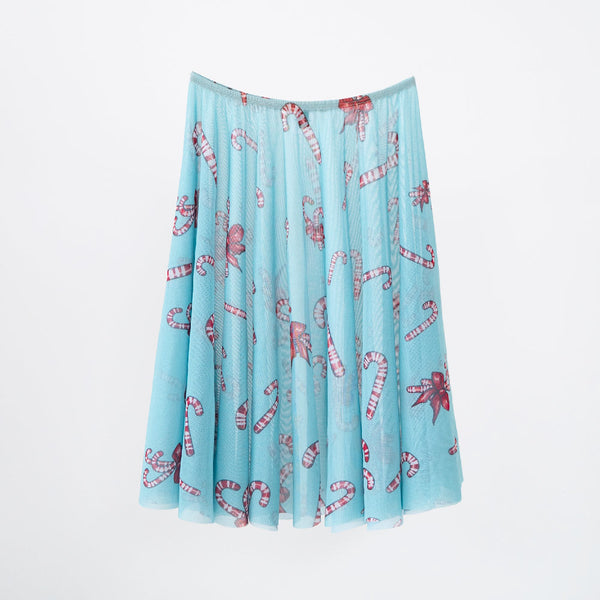 BLUE CANDY CANE RHEA <BR> NUTCRACKER COLLECTION SKIRT