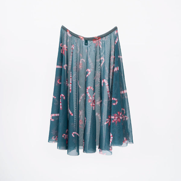EMERALD CANDY CANE RHEA <BR> NUTCRACKER COLLECTION SKIRT