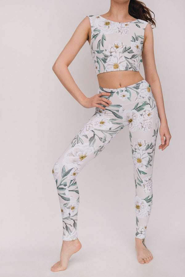 ALMOND CAMELLIA FLIGHT TOP & LEGGINGS <br> FULL SET