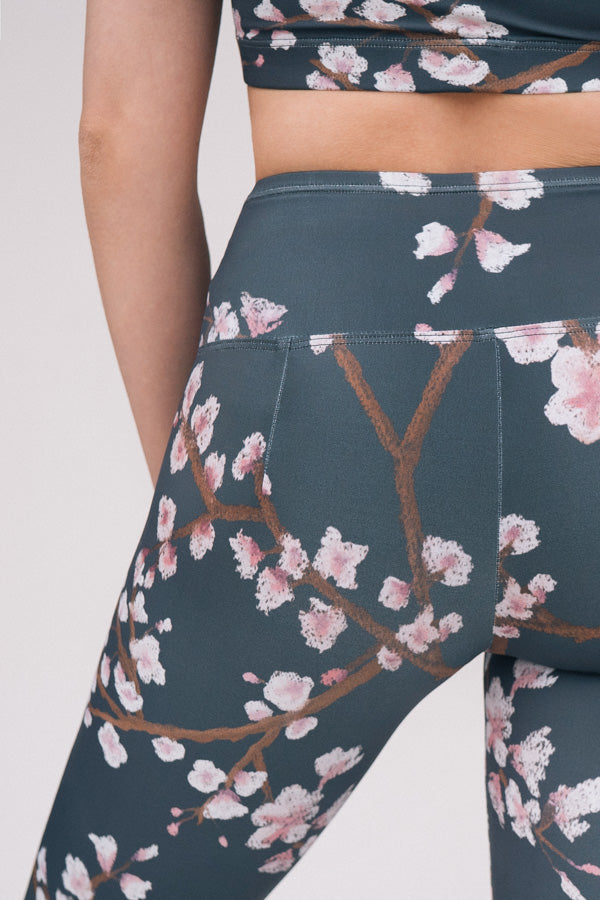 DARK GREY CHERRY BLOSSOM <br> ORIGINAL LEGGINGS