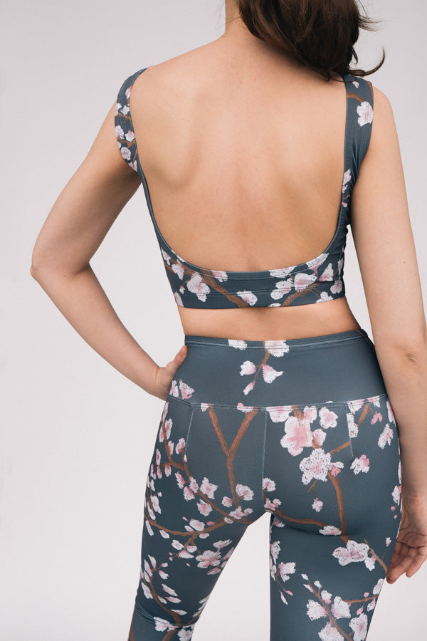 DARK GREY CHERRY BLOSSOM MOON TOP & LEGGINGS <br> FULL SET
