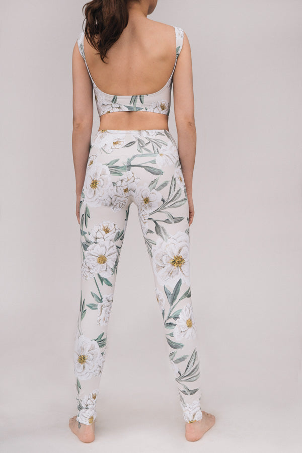 ALMOND CAMELLIA MOON TOP & LEGGINGS <br> FULL SET
