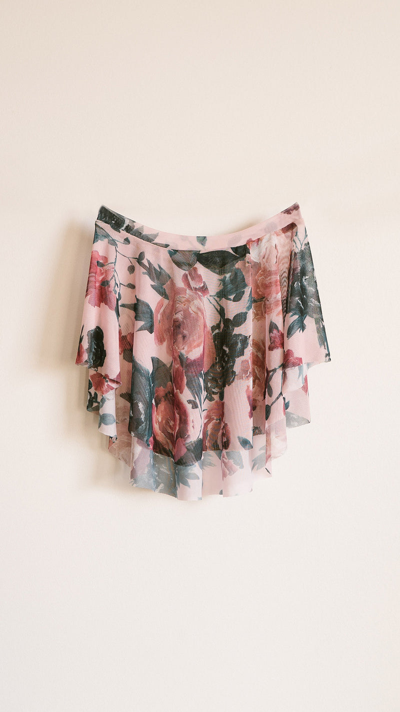 HAND PAINTED EOS PETAL PRINT SKIRT