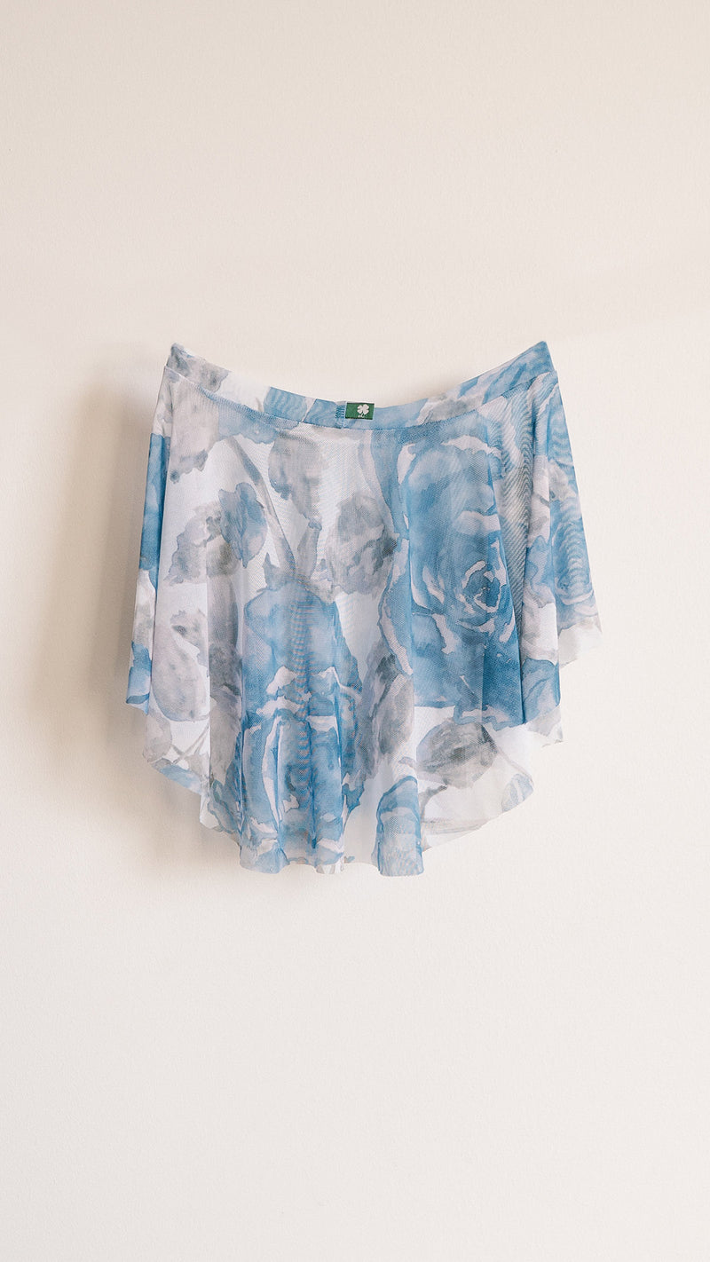 HAND PAINTED EOS ROYAL ROSE PRINT SKIRT