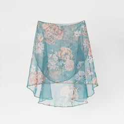HAND PAINTED VESTA BLUE ANTOINETTE SKIRT