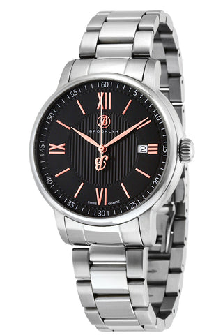 Brooklyn Livingston Swiss Quartz Slim Mens Watch BW-101-M1212