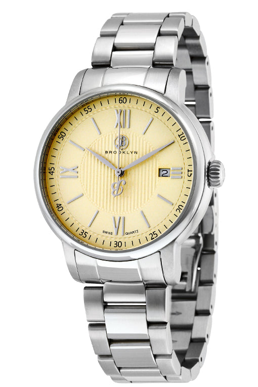 Brooklyn Livingston Swiss Quartz Slim Mens Watch BW-101-M1712