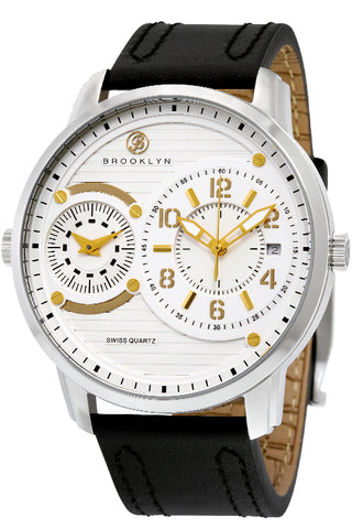 Brooklyn Willoughby Dual Time Zone Swiss Quartz Mens Watch BW-102-M1121