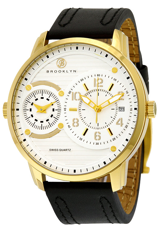 Brooklyn Willoughby Dual Time Zone Swiss Quartz Mens Watch BW-102-M2121