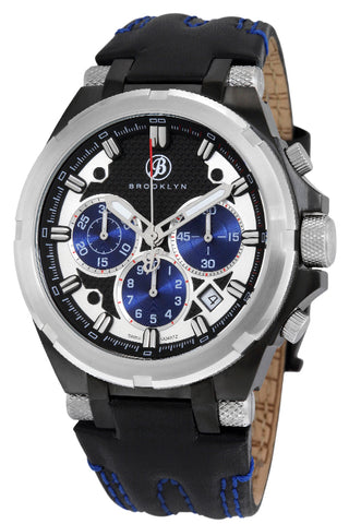 Brooklyn Malcolm Swiss Quartz Chronograph Mens Watch BW-103-M4121
