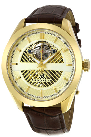 Brooklyn Pierrepont Skeleton Mens Automatic Watch BW-200-M2331