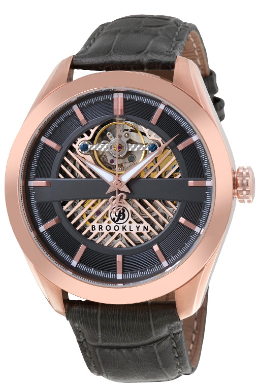 Brooklyn Pierrepont Skeleton Mens Automatic Watch BW-200-M3881