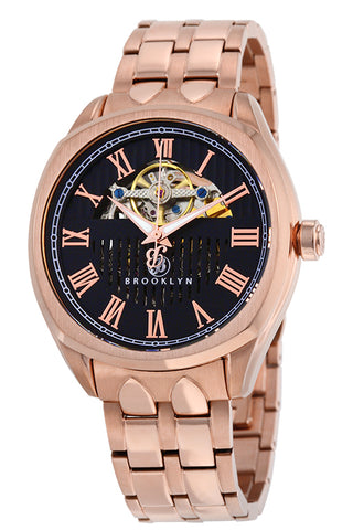 Brooklyn Dunham Skeleton Mens Automatic Watch BW-202-M3262