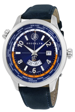 Brooklyn Cadman Swiss Quartz GMT Mens Watch BW-206-M1551