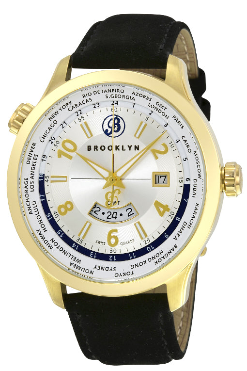 Brooklyn Cadman Swiss Quartz GMT Mens Watch BW-206-M2721