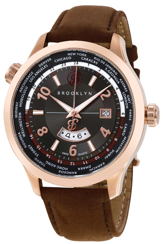 Brooklyn Cadman Swiss Quartz GMT Mens Watch BW-206-M3831