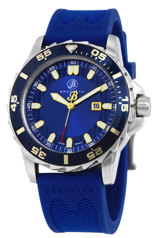 Brooklyn Waterbury Diver Swiss Quartz Mens Watch BW-302-M1553