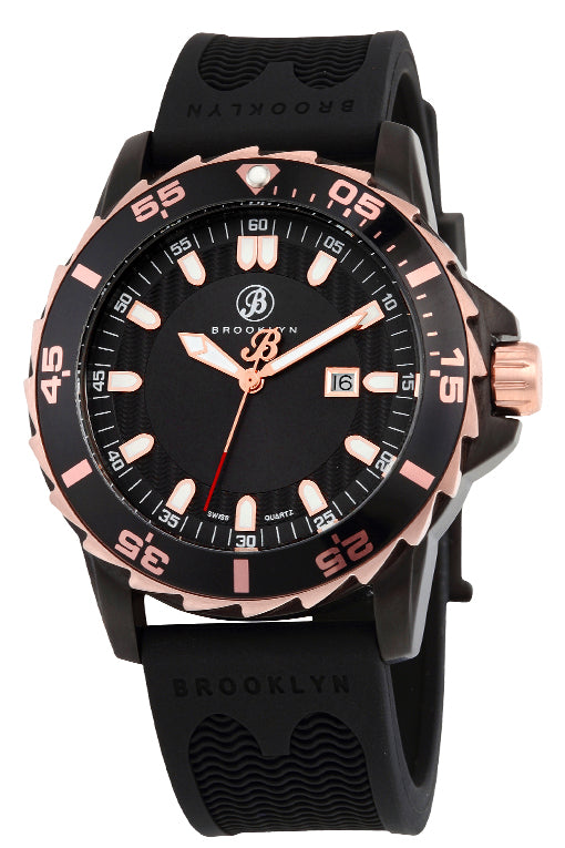 Brooklyn Waterbury Diver Swiss Quartz Mens Watch BW-302-M4123