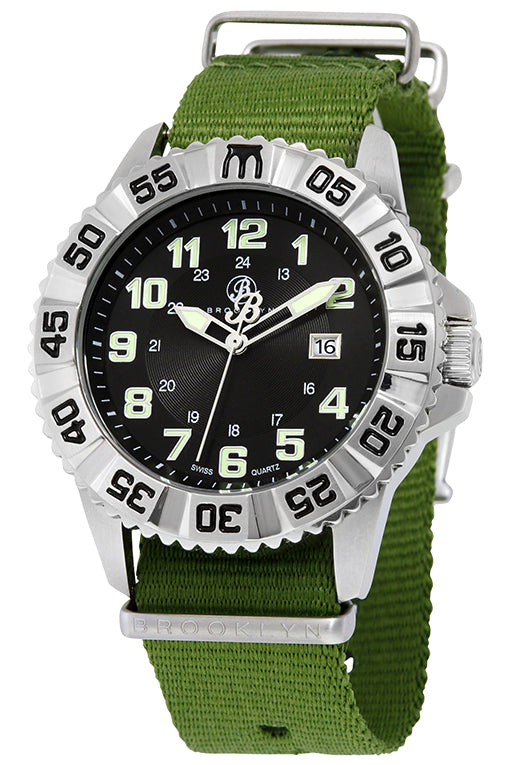 Brooklyn Essex Canvas Army Swiss Quartz Mens Watch BW-303-M1294