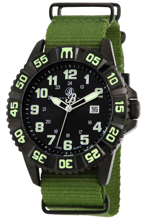 Brooklyn Essex Canvas Army Swiss Quartz Mens Watch BW-303-M4224