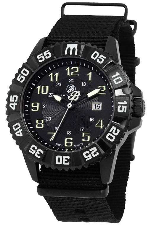 Brooklyn Essex Canvas Army Swiss Quartz Mens Watch BW-303-M4294