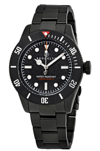 Brooklyn Watch Co. Black Eyed Pea Black Dial Mens Watch BW-306-A-11-BB-BLK