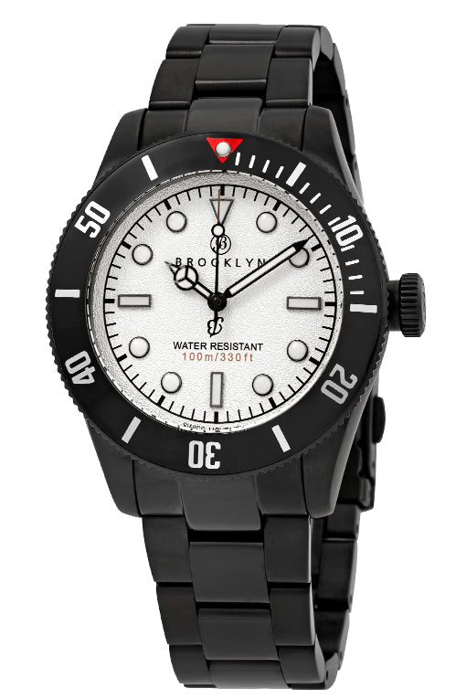 Brooklyn Watch Co. Black Eyed Pea White Dial Mens Watch BW-306-B-22-BB-BLK