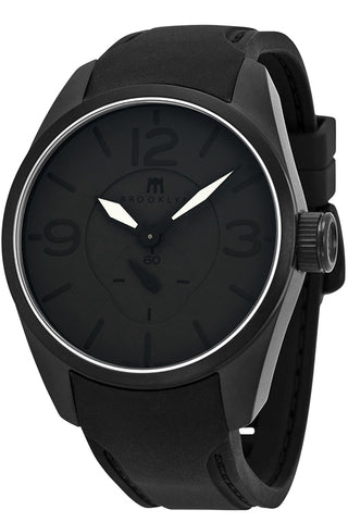 Brooklyn Lafayette Black Dial Black Rubber Strap Swiss Quartz Mens Watch CLA-J