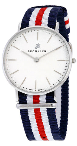 Brooklyn Flatland Casual Super Slim Swiss Quartz Slim Watch BW-104-U11134