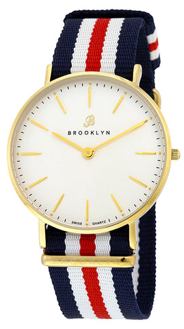 Brooklyn Flatland Casual Super Slim Swiss Quartz Slim Watch BW-104-U21134