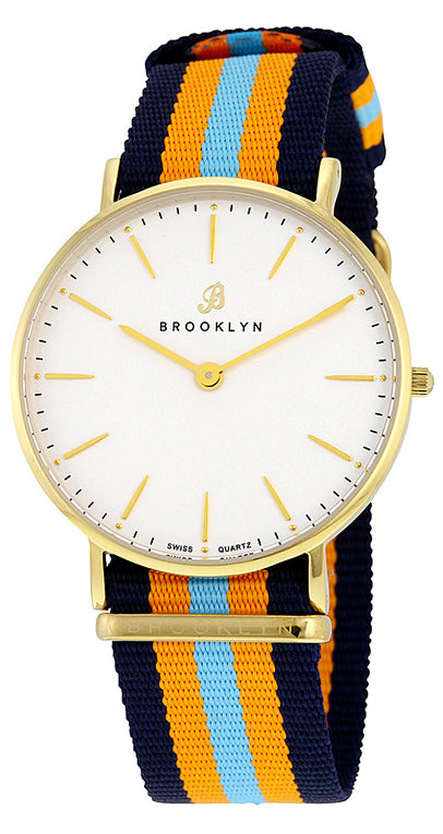 Brooklyn Flatland Casual Super Slim Swiss Quartz Slim Watch BW-104-U21144
