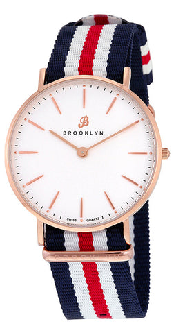 Brooklyn Flatland Casual Super Slim Swiss Quartz Slim Watch BW-104-U31134
