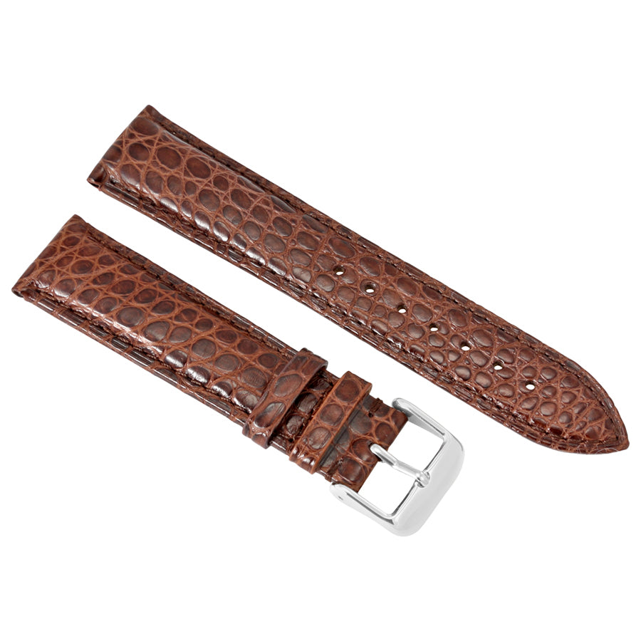 Brooklyn Watch Strap in Brown Alligator Leather - 22 MM RPOS1A-BR