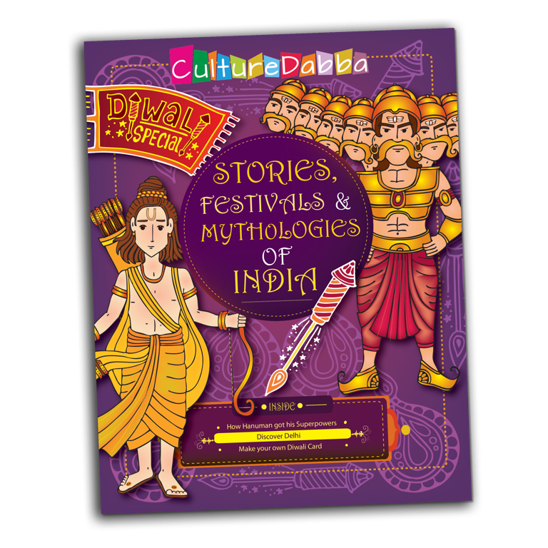 Indian culture in an activity book