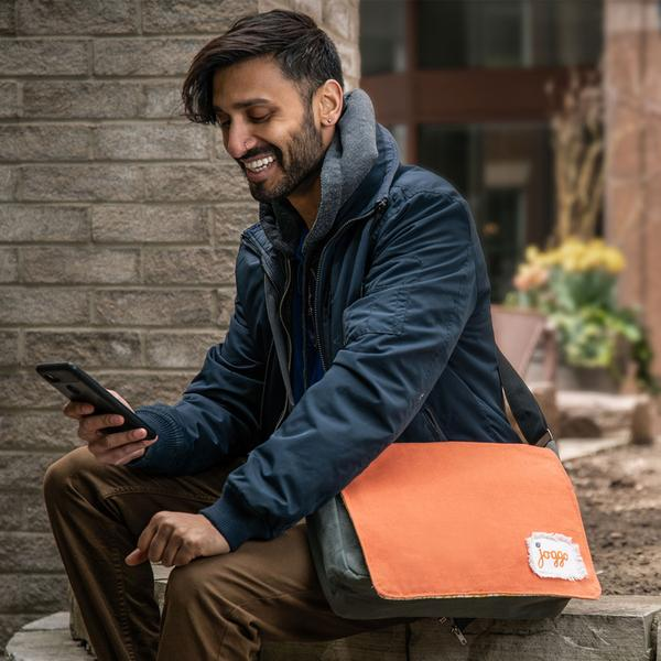 Companion Messenger Bag - Orange & Grey