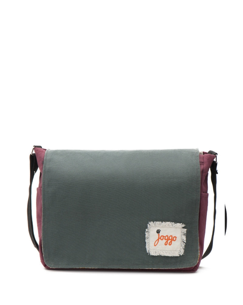 Companion Messenger Bag - Grey & Red