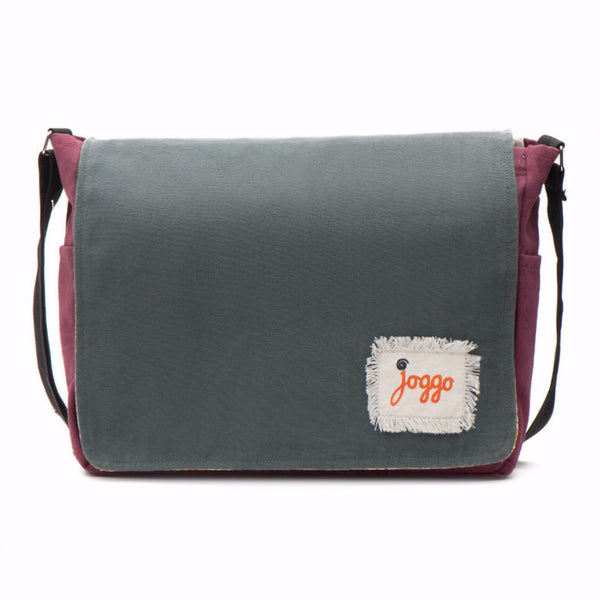 Fair trade canvas messenger bag